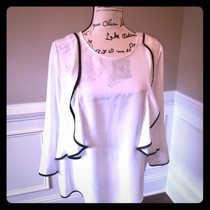 Eloquii Tops - White blouse with ruffles